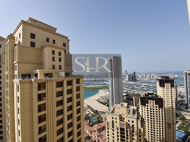 2 Superior Sea View | Large 4 BR+Maid | High Floor | Vacant