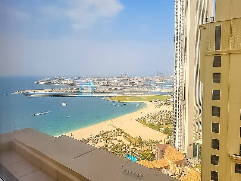 Large 1BR|Partial sea view| Vacant soon| Mid Floor