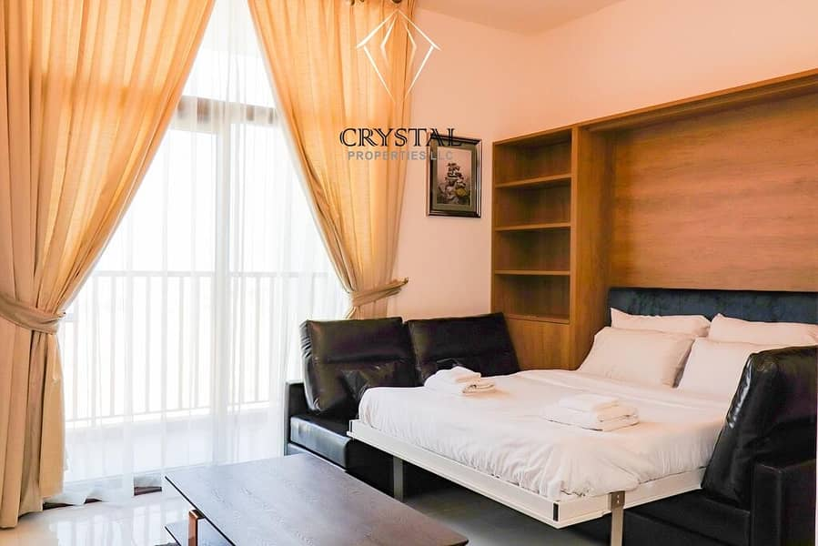 Fully Furnished ! High Floor! Brand new  Studio