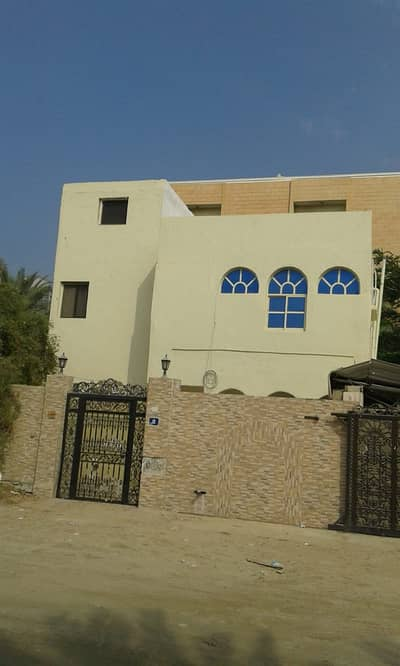 6 Bedroom Villa for Sale in Al Nuaimiya, Ajman - Villa for sale in Ajman Nuaimia An area of 6400 feet The two-storey villa is fully maintained, consisting of 6 rooms, a majlis, a hall, monsters, and air conditioners The villa is rented for 85,000 dirhams Very special location, the villa is a residential
