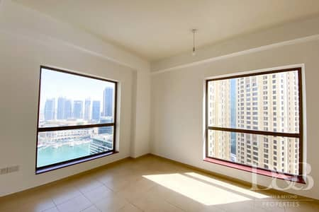 2 Bedroom Flat for Rent in Jumeirah Beach Residence (JBR), Dubai - Full Marina View | High Floor | Vacant