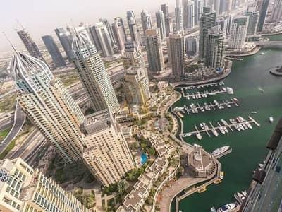 فلیٹ 2 غرفة نوم للايجار في دبي مارينا، دبي - High Floor   Amazing Marina View   Available April