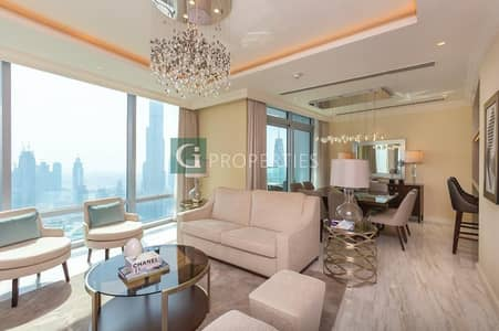 4 Bedroom Hotel Apartment for Sale in Downtown Dubai, Dubai - Unique Luxury Apartment with Burj Khalifa View