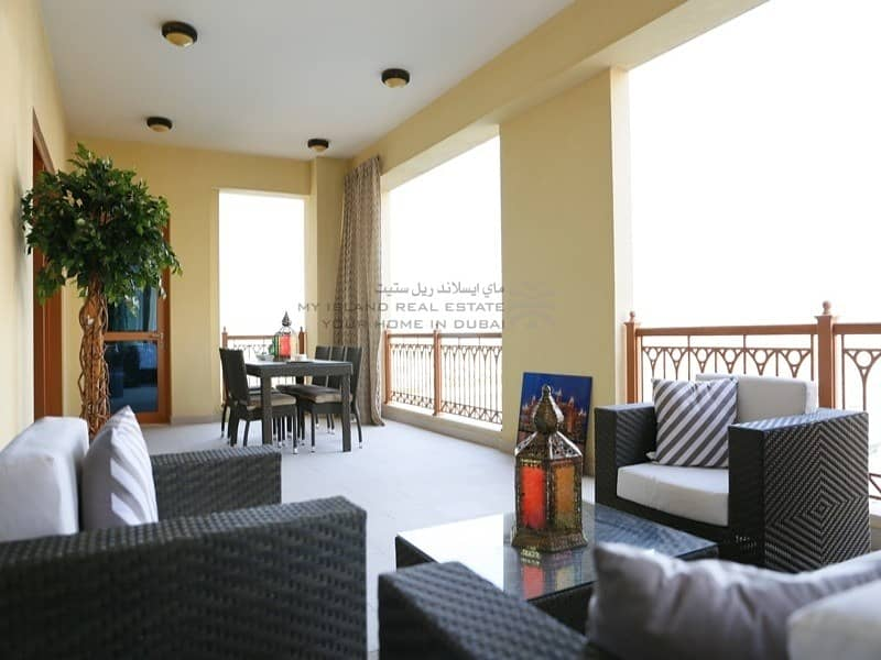 2 Furnished 3 bedroom with Burj and pool view