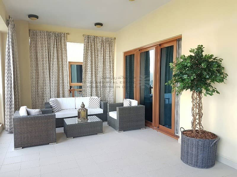 20 Furnished 3 bedroom with Burj and pool view