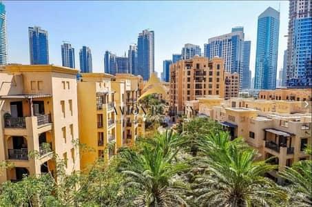 فلیٹ 1 غرفة نوم للايجار في المدينة القديمة، دبي - Pool View | Fitted Kitchen | Highly Maintained - Downtown
