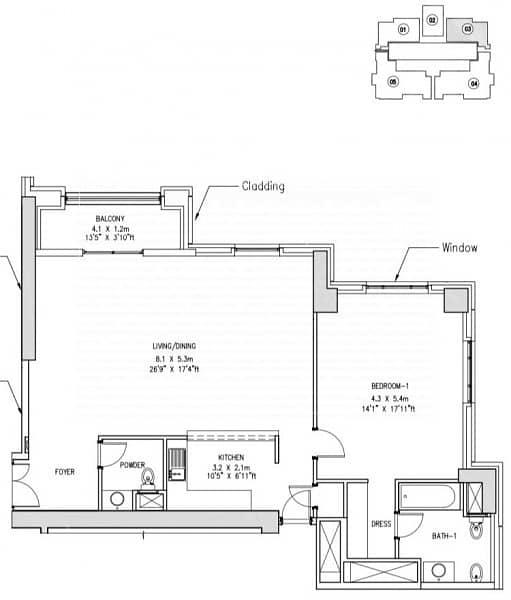 13 Beautiful 1 bedroom apartment | Partial Marina View