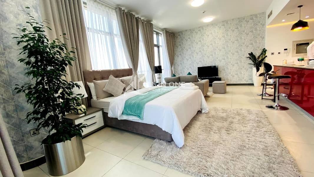 Brand New and Furnished Lavish Studio with Parking!
