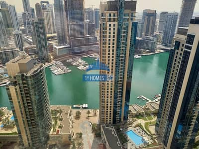 2 Bedroom Flat for Rent in Jumeirah Beach Residence (JBR), Dubai - Fully Furnished 2BR / Full Marina View / Huge Layout