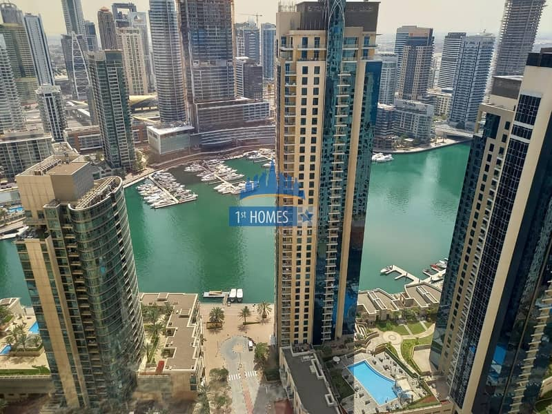 Fully Furnished 2BR / Full Marina View / Huge Layout