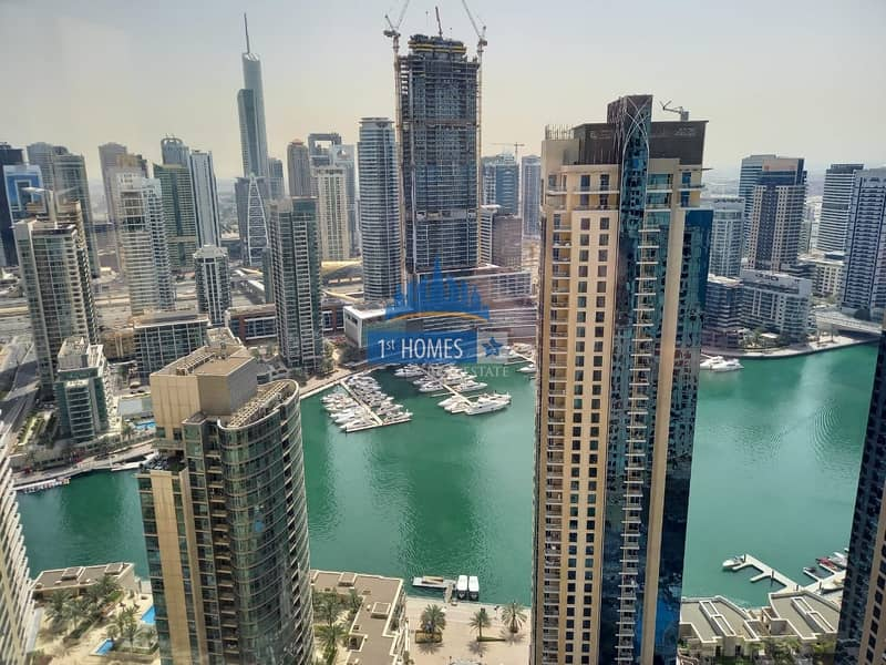 10 Fully Furnished 2BR / Full Marina View / Huge Layout