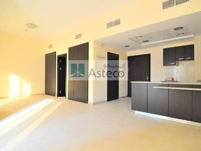 Studio for Rent in Remraam, Dubai - L Shaped Studio | Inner Circle | Next to the Pool