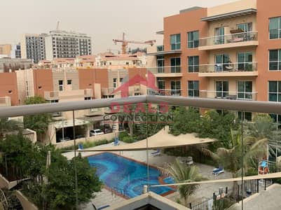 1 Bedroom Apartment for Rent in Jumeirah Village Circle (JVC), Dubai - POOL VIEW | AMAZING ONE BEDROOM  APARTMENT + BALCONY  + 2 WASHROOM AVAILABLE FOR RENT IN JVC