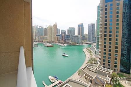 1 Bedroom Apartment for Rent in Dubai Marina, Dubai - Sea and Marina View | Available May | 1Bed