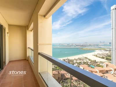 شقة 2 غرفة نوم للايجار في جميرا بيتش ريزيدنس، دبي - Fabulous Sea View   Large Layout   High Floor
