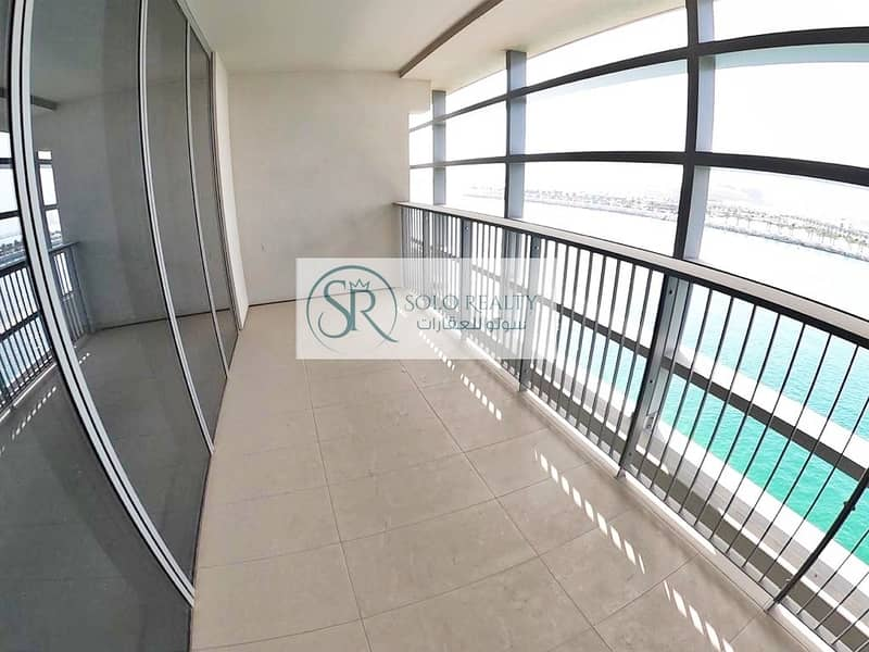 2 Majestic Sea View! Modern Layout 2BR Apt I Balcony I Pool & Gym