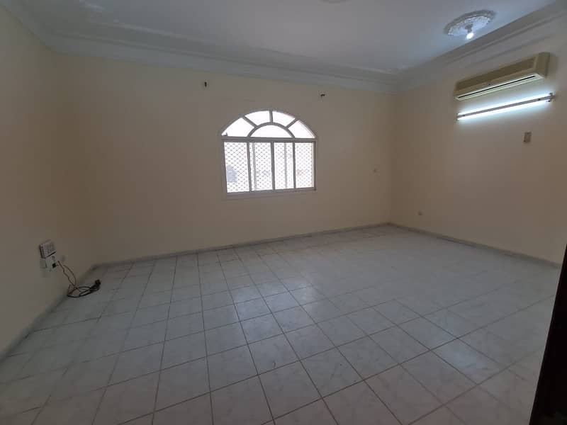 flat four bedrooms + hall in bani yas for rent with tawthiq from municipality with separate electricity meter