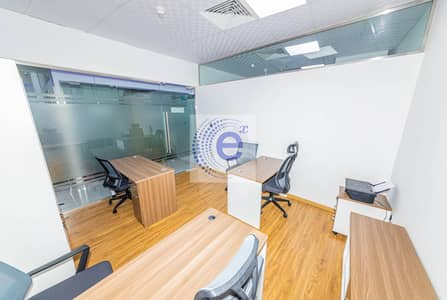 Office for Rent in Business Bay, Dubai - Private office without view  can fit 3 working tables