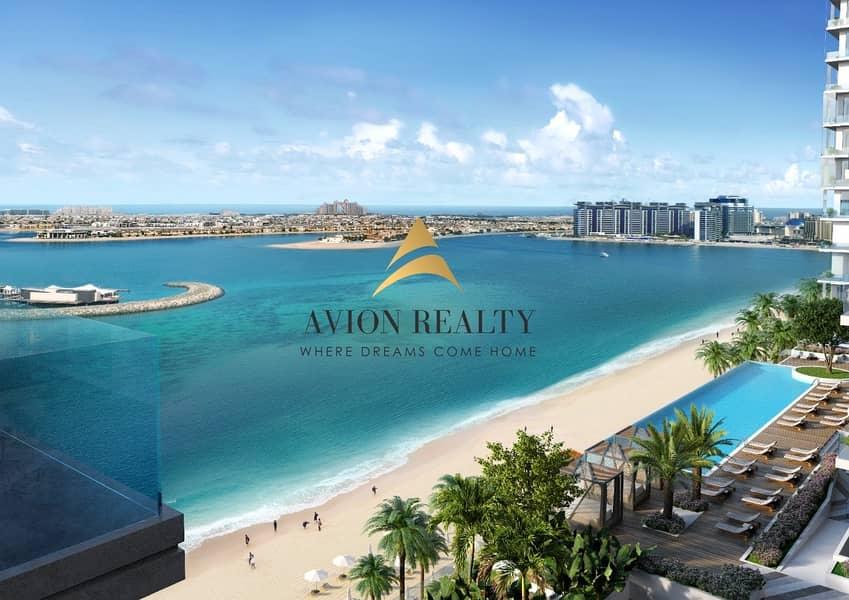 2 Private Beach | Stunning 1BR | Beach front -  Dubai Marina