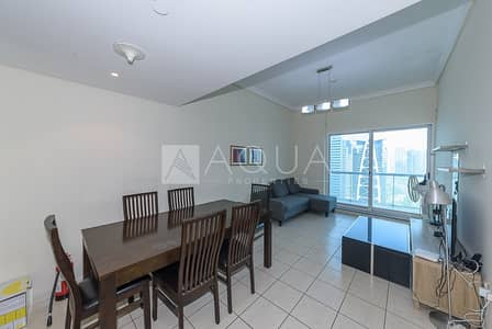 1 Bedroom Apartment for Rent in Jumeirah Lake Towers (JLT), Dubai - Full Lake View | Fully Furnished | Front of Metro