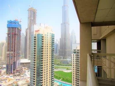 1 Bedroom Flat for Rent in Downtown Dubai, Dubai - Full Burj Khalifa View   Large 1 BR   High Floor