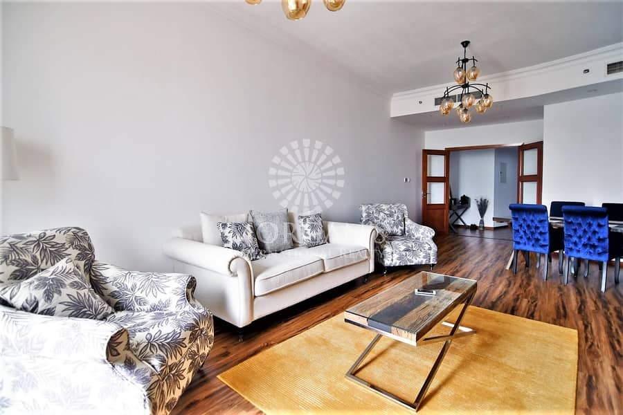 High Floor Upgraded Fully Furnished 2 BR