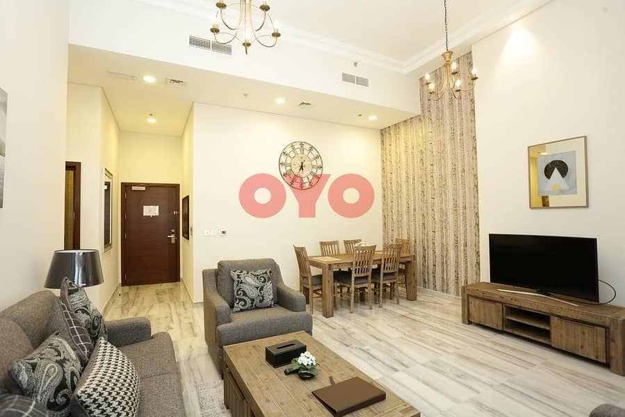 29 7499 Monthly 2BHK | Fully Furnished | Free  DEWA/ Wifi | No Commission