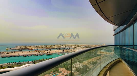 3 Bedroom Apartment for Rent in Al Mina, Abu Dhabi - The perfect choice of high floor Sea View 3BHK