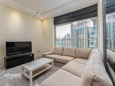 فلیٹ 2 غرفة نوم للايجار في دبي مارينا، دبي - Sea View 2 Bedroom + Study With 2 Balconies