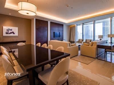 فلیٹ 5 غرف نوم للايجار في وسط مدينة دبي، دبي - Burj Khalifa and Panoramic Sea View Furnished 5BR