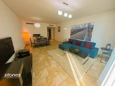 2 Bedroom Apartment for Rent in Jumeirah Beach Residence (JBR), Dubai - Furnished Apartment | Sea View | Spacious Balcony