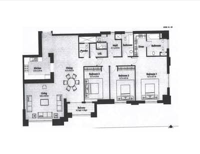 3 Bedroom Apartment for Sale in Business Bay, Dubai - Tenanted - Apr 21 | Vastu | 3 Bed + Maids