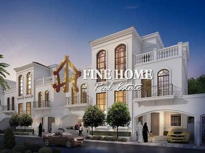 6 Bedroom Villa Compound for Sale in Shakhbout City (Khalifa City B), Abu Dhabi - Corner 5 Villas Compound | Big Patio & Garden
