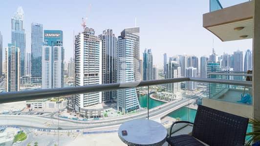 1 Bedroom Flat for Rent in Dubai Marina, Dubai - Fully furnished Higher floor