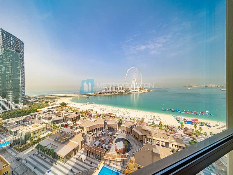 3BR w/ Maid | Sea and Dubai Eye view | High Floor