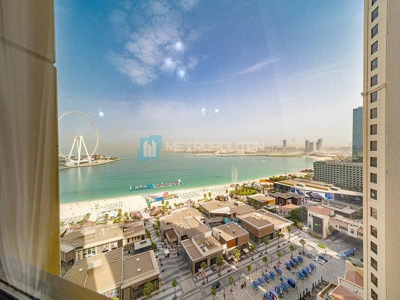 24 3BR w/ Maid | Sea and Dubai Eye view | High Floor