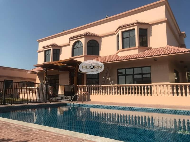 75 Spacious 5 bedroom plus maid independent villa with private pool and private garden in Jumeirah 2