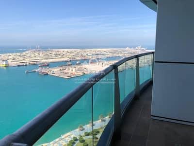شقة 3 غرف نوم للايجار في منطقة الكورنيش، أبوظبي - Luxury | Full Sea view | Maids & Balcony