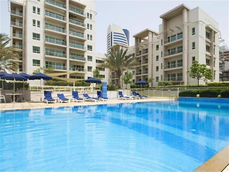 10 Upgraded wooden floors 1 BR With Park  View +Balcony in Al Dhafrah 1 Green