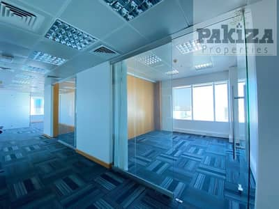 Office for Rent in Sheikh Zayed Road, Dubai - NEAR METRO|CLOSED GLASS PARTITIONS|BRIGHT & SPACIOUS FULLY FITTED OFFICE FOR RENT IN SHEIK ZAYED ROAD