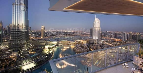 فلیٹ 2 غرفة نوم للبيع في وسط مدينة دبي، دبي - Huge Balcony I Burj and Fountain View I Rare Unit