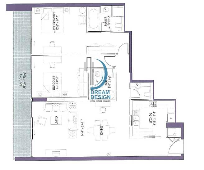 11 Spacious 2 Bedroom Hall I Fully equipped kitchen  I Burj khalifa street