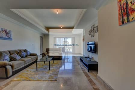 3 Bedroom Apartment for Rent in Palm Jumeirah, Dubai - Fully furnished / High floor / Road view