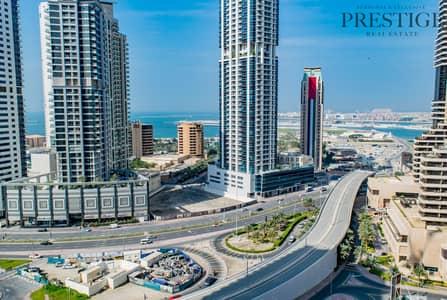 فلیٹ 1 غرفة نوم للايجار في دبي مارينا، دبي - Well Maintained Large 1 Bedroom Marina View