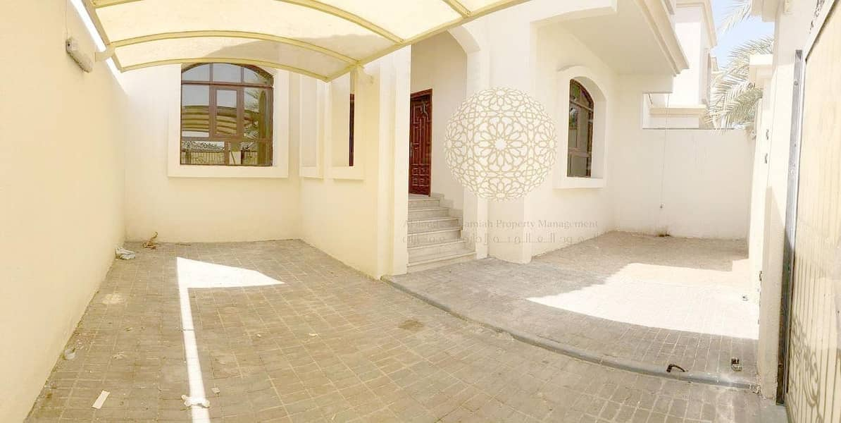 2 EXCELLENT FINISHING 5 MASTER BEDROOM  SEMI INDEPENDENT VILLA FOR RENT IN KHALIFA CITY A