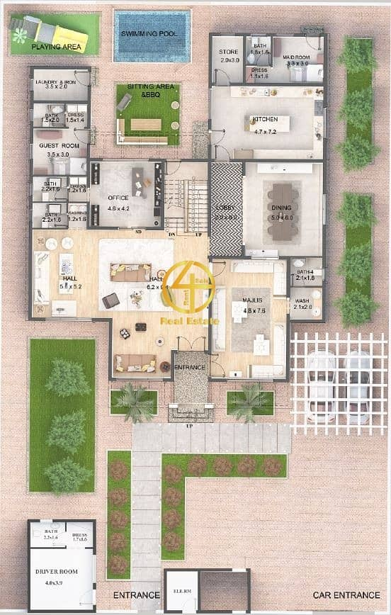 2 Matchless in Spanish Design  7 BR Villa