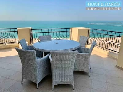 3 Bedroom Penthouse for Rent in Al Hamra Village, Ras Al Khaimah - Full Sea View - Fully Furnished Penthouse - 3 Bedrooms