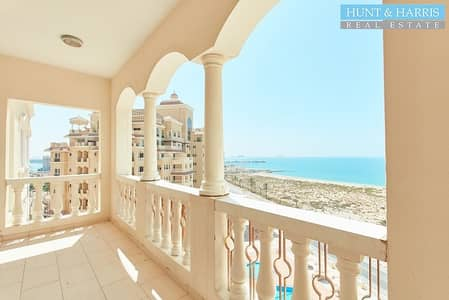 3 Bedroom Apartment for Rent in Al Hamra Village, Ras Al Khaimah - Rare RB2 Sea View - High Floor - Chiller Free