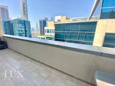 1 Bedroom Apartment for Rent in Business Bay, Dubai - Fully Furnished| Huge Terrace | Spacious