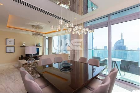 4 Bedroom Penthouse for Rent in Downtown Dubai, Dubai - Luxury Duplex| Full Burj and Fountain View| High Floor| 4BR